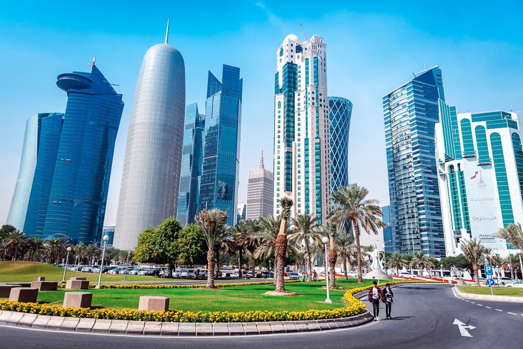Doha West Bay by Bojan Mustur